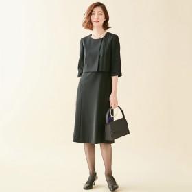 【10%OFFクーポン対象】ブラックフォーマルデザインワンピース【喪服・礼服】