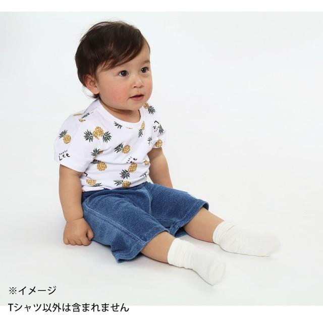 f936ea23b9c11 ベビーザらス限定 BUDDYLEE 半袖Tシャツ パイナップル総柄(ホワイト×70cm)