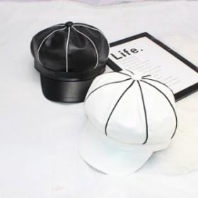 キャスケット ハンチング キャップ 帽子 八角帽 ユニセックス 小顔効果 紫外線 UV対策 ワークキャップ 秋冬 お出かけ 可愛い1000000135