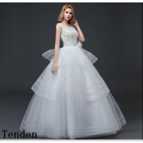 b46a934806f05 花嫁ドレス ウェディングドレス 二次会 レース 刺繍 ロングドレス 結婚式 ウエディングドレス 編み上げ 花嫁ドレス