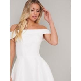【送料無料】チチロンドン ホワイト ミディドレス ワンピース CHI CHI MERYL DRESS
