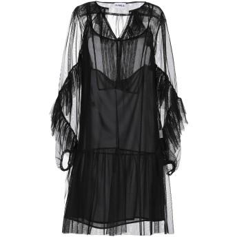 《セール開催中》AINEA レディース ミニワンピース&ドレス ブラック 40 ポリエステル 100%
