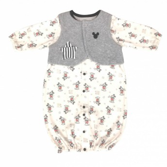 ベビーザらス限定 ディズニー ベスト付き新生児ドレス(ミッキー×50-70cm)【送料無料】