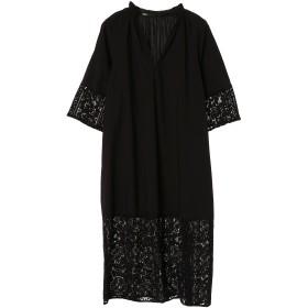 muller of yoshiokubo Bahiaレースシャツドレス ワンピース,ブラック