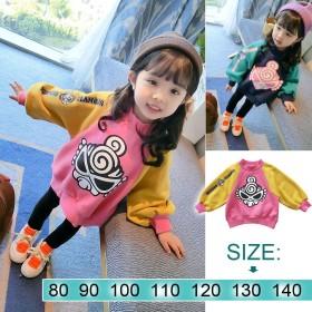 韓国子供服 コート 可愛いベビー女の子长袖Tシャツ女の子 秋冬 长袖 通園 通学 韓国ファッション 可愛い 韓国風