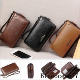 セカンドバッグ メンズ 本革 鞄 長財布 通勤 クラッチバッグ メンズ ビジネス さいふ 大容量 多機能 財布 レザー バッグ カジュアル