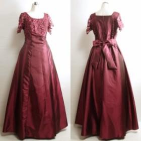 f575ec9b7b007 ロングドレス ステージ衣装 半袖 大きいサイズ レース地 袖あり 声楽 演奏会ドレス カラオケ