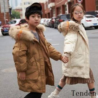 子供服 ダウンコートキッズ 冬用 子供 子ども 女の子 フード付き 男の子 ダウンコート 無地コート可愛い ダウンジャケット アウター 防寒