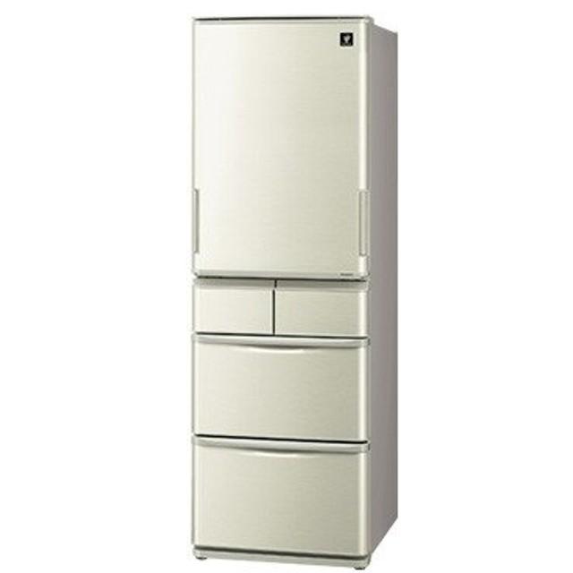 シャープ どっちもドア 5ドア冷蔵庫(412L) ゴールド系【大型商品(設置工事可)】 SJ-W411E-N