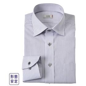 ワイシャツ ビジネス メンズ 消臭芯地使用汚れが目立ちにくいデザイン形態安定 長袖 レギュラー カラー  M/L/LL ニッセン