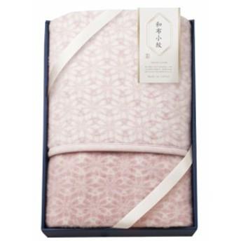 和布小紋 千鳥 アクリル毛布(毛羽部分) WFK-15100W PI 毛布 ピンク