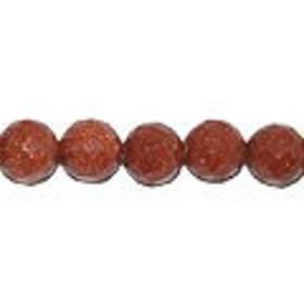茶金石 ラウンドカット 8mm(35cm)