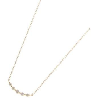 COCOSHNIK(ココシュニック) K18ダイヤモンド グラデーション5石 ネックレス
