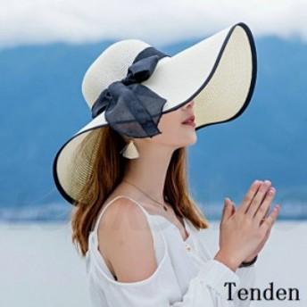 帽子 レディース 麦わら帽子 ママ 小顔効果抜群 上品 UVカット ワイドハット オシャレ ぼうし 紫外線カット 折りたたみ 日よけ UVカット