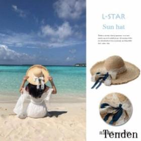つば広ハット レディース 麦わら帽子 日よけ つば広 夏 レディース 紫外線対策 アウトドア 大きいサイズ UVハット帽子 レース 春 リボン