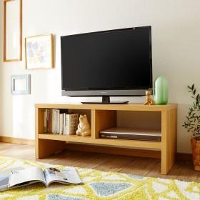 40型まで対応!シンプル木のテレビボード