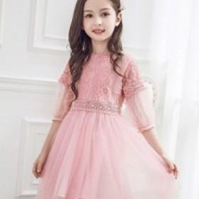 c2503c10e3029 発表会 入学式 卒園式 キッズ 女の子 韓国風 ワンピース ドレス フォーマル 結婚式