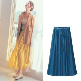 【STYLE SNAPコラボチラシ掲載】【丈が選べる】軽やか!カラーロングスカート
