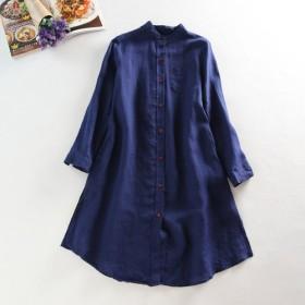 f078リネン ロングシャツ これからの季節 1枚ではモチロン、タンクトップやタートルの織ものとして