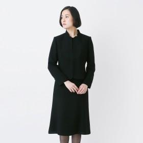 【50%OFF】変形スタンドカラー2点セットスーツ【喪服・礼服・ブラックフォーマル】