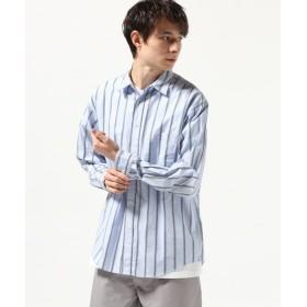 【60%OFF】 ジャーナルスタンダード ドビーストライプ レギュラーシャツ メンズ ブルー S 【JOURNAL STANDARD】 【セール開催中】