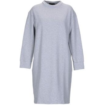 《セール開催中》SATNE レディース ミニワンピース&ドレス グレー M コットン 100% / プラスティック