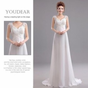 76cad82f194ae 花嫁ドレス パーティー ウエディングドレス 結婚式 ロングドレス トレーンライン ドレス お呼ばれ 披露宴 ブライダルドレス