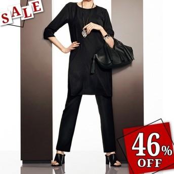 セール ファッション (股下丈63cm) マットサテン パンツ レディース パンツ PC1155