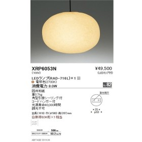 遠藤照明 照明器具 和風照明 AbitaExcel LEDペンダントライト 電球色 白熱球60W形×1相当 XRP6053N