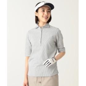 BEAMS GOLF PURPLE LABEL / 五分袖 ポロシャツ レディース ポロシャツ GREY M