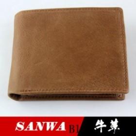 二つ折り財布 メンズ 財布 大収納 多機能 大容量 ウォレット ビジネス サイフ カード入れ wallet 本革 カジュアル