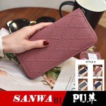 長財布 レディース 財布 PU革 カード入れ ウォレット 多機能 大容量 大収納 可愛い サイフ コンパクト wallet