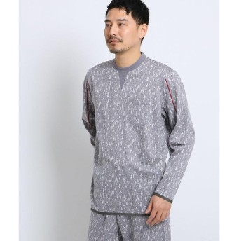 TAKEO KIKUCHI / タケオキクチ 幾何学迷彩パジャマカットソー[ メンズ ルームウェア パジャマ セット 迷彩 カモフラ ]