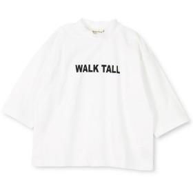 【50%OFF】 ブランシェス モックネックロゴ8分袖Tシャツ(80~150cm) レディース オフホワイト 100cm 【branshes】 【セール開催中】