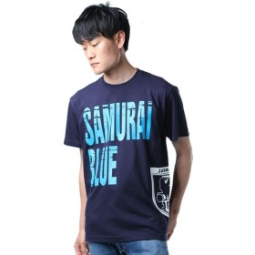 サッカー日本代表Tシャツ SUMURAI BLUE Tシャツ クラック O-131 【swc2017】