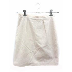【中古】プロポーション ボディドレッシング PROPORTION BODY DRESSING スカート タイト ミニ 刺繍 3 白 ホワイト