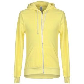 《送料無料》ALTERNATIVE メンズ スウェットシャツ イエロー L ポリエステル 50% / コットン 46% / レーヨン 4%