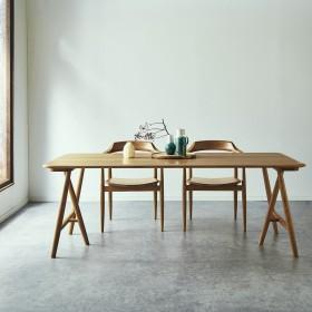 オーク材のダイニングテーブル(ROSS)