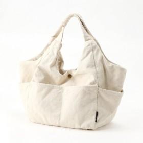 【手洗いOK】外ポケットが便利なキャンバストートバッグ