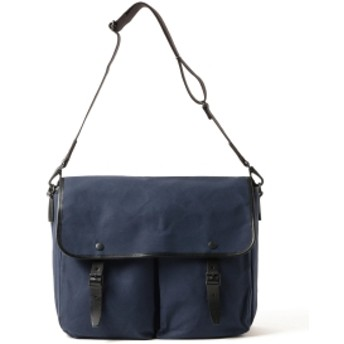 MARGARET HOWELL × PORTER / PARAFFIN WAXED COTTON SHOULDER BAG メンズ ショルダーバッグ NAVY ONE SIZE
