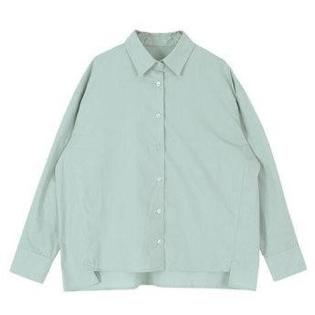 ティティベイト titivate オーバーサイズバックフリルシャツ (ライトブルー)