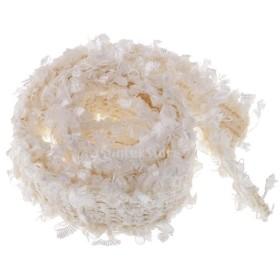 ファブリックリボン 27mm エレガント編組 トリムクラフト 髪飾り 衣類/かばん装飾 手作りプロジェクト 全9種選べ  - 白