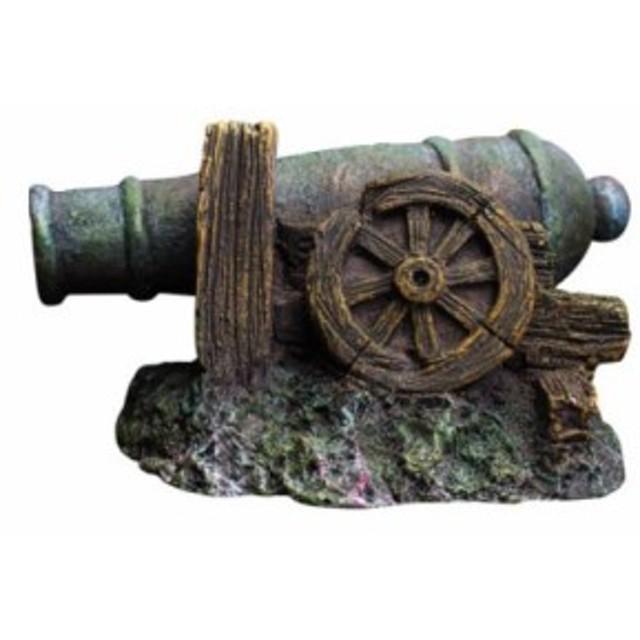【お取り寄せ】水槽用オブジェ オーナメント 海底に眠る 大砲