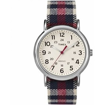 Timexユニセックスtw2p89600ウィークエンダーアナログ表示クオーツレッドWatch