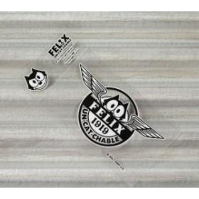 フィリックス・ザ・キャット ステッカー 車 バイク ヘルメット アメリカン フィリックス グッズ 転写タイプ Wing_SC-KGAZF430WG-MON