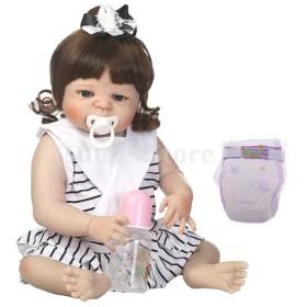 全3カラー ソフト リアル 赤ちゃん人形 22インチリボーンドール - #3