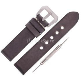 全4サイズ 時計アクセサリー 腕時計バンド ウオッチストラップ 交換用ベルト グレー - 20mm