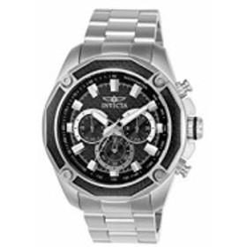 Invicta Mens Aviator Steel Bracelet &amp Case Quartz Black Dial Analog Watch 22803