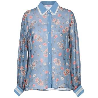 《セール開催中》BLUGIRL BLUMARINE レディース シャツ パステルブルー 44 レーヨン 100% / ポリエステル