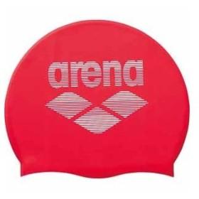 アリーナ スイムキャップ(レッド・FREEサイズ(目安:50〜59cm)) arena シリコンキャップ DS-ARN6400-RED-F 返品種別B